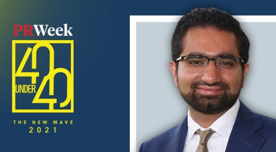 Bilal Lakhani has become the first Pakistani to win the 'Global PR 40 Under 40 Award'